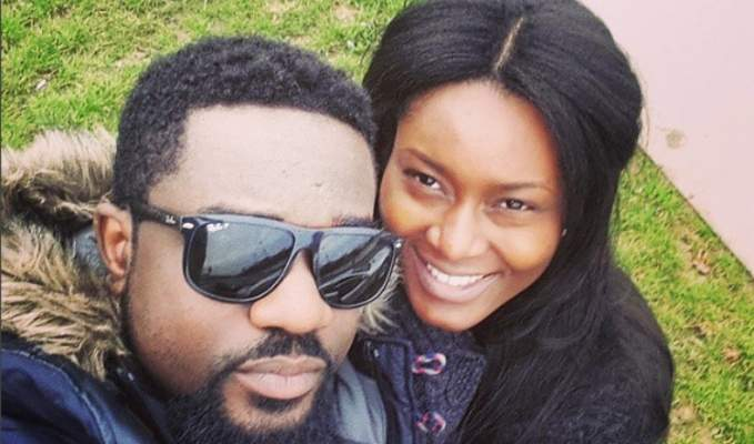 Sarkodie and Wife Tracy