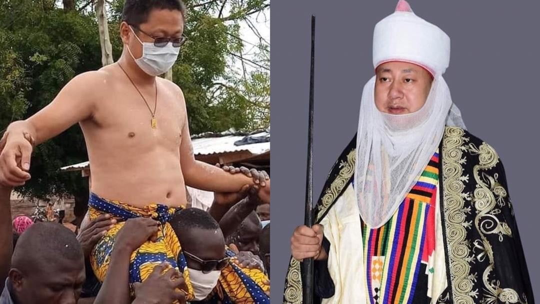 "Meet Sun Qiang, the enstooled ""Nkosuohene"" of Kwahu Abetifi"