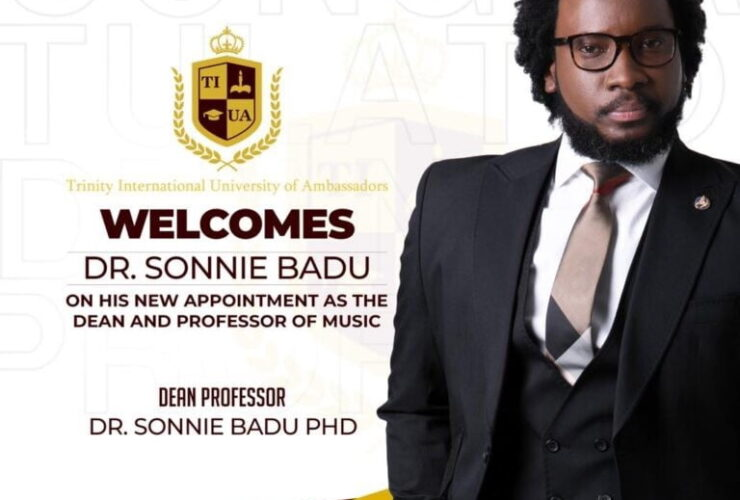 Sonnie Badu appointed as Dean Of Music at a university