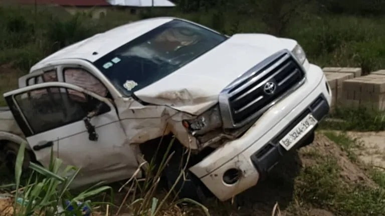 Breaking News: Gospel musician Yaw Sarpong involved in serious accident [See Photos]