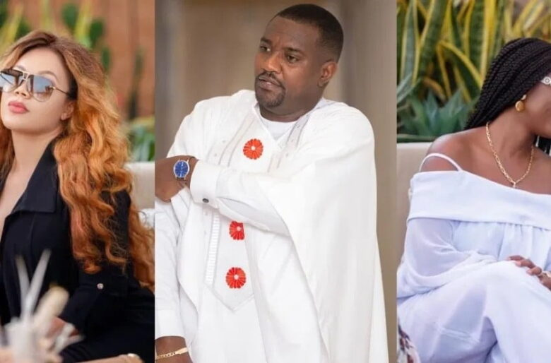 Watch a video of John Dumelo's son play with Nadia Buari's twin daughters