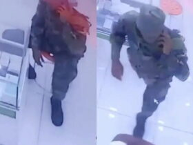 Ghanaian soldier caught stealing iPhone 11 Pro from a phone shop