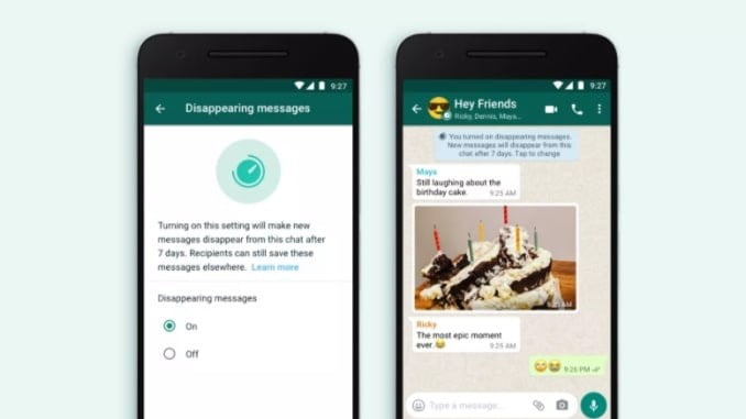 WhatsApp will soon allow users to set messages to automatically delete after 7days