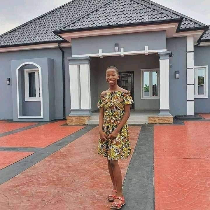 Nigerian comedienne, Emmanuella builds new house for her mother [Photos]