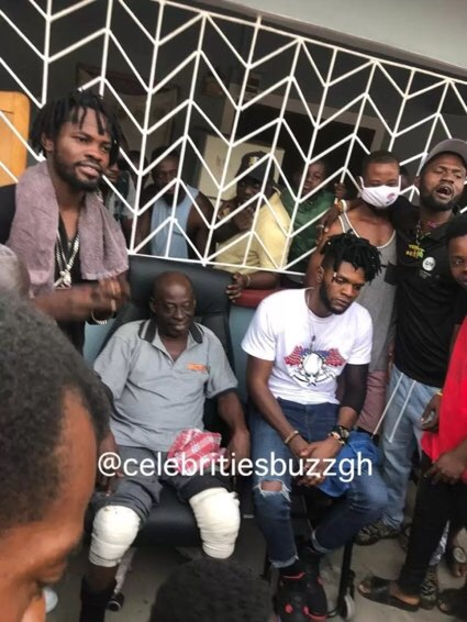 Ogidi Brown and Fameye settle their issue before the elders of Antoa [Photos]