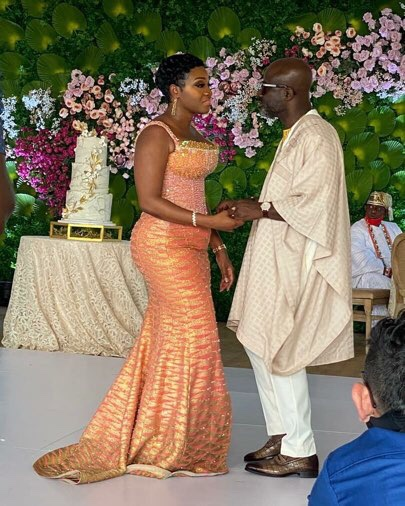 Photos and video from prez Akufo-Addo's executive secretary, Nana Asante Bediatuo and Femi's wedding surface online