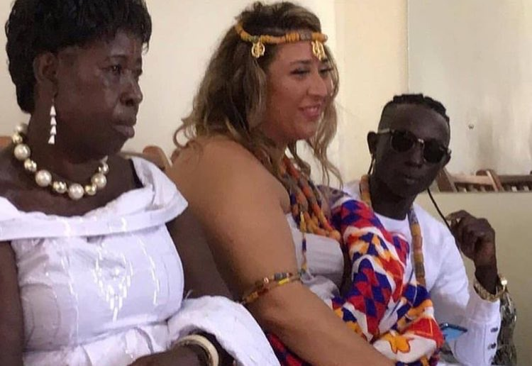 Photos and video from Patapaa's traditional wedding with his German girlfriend