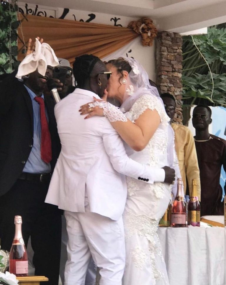 Photos and video from Patapaa's white wedding