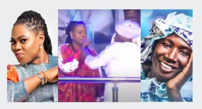 Cecilia Marfo forcefully takes microphone from Joyce Blessing and order her to go back to her husband [ Watch Video ]
