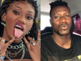 Wendy Shay tells Keche Joshua to $hut up because a woman takes care of him [Watch Video]