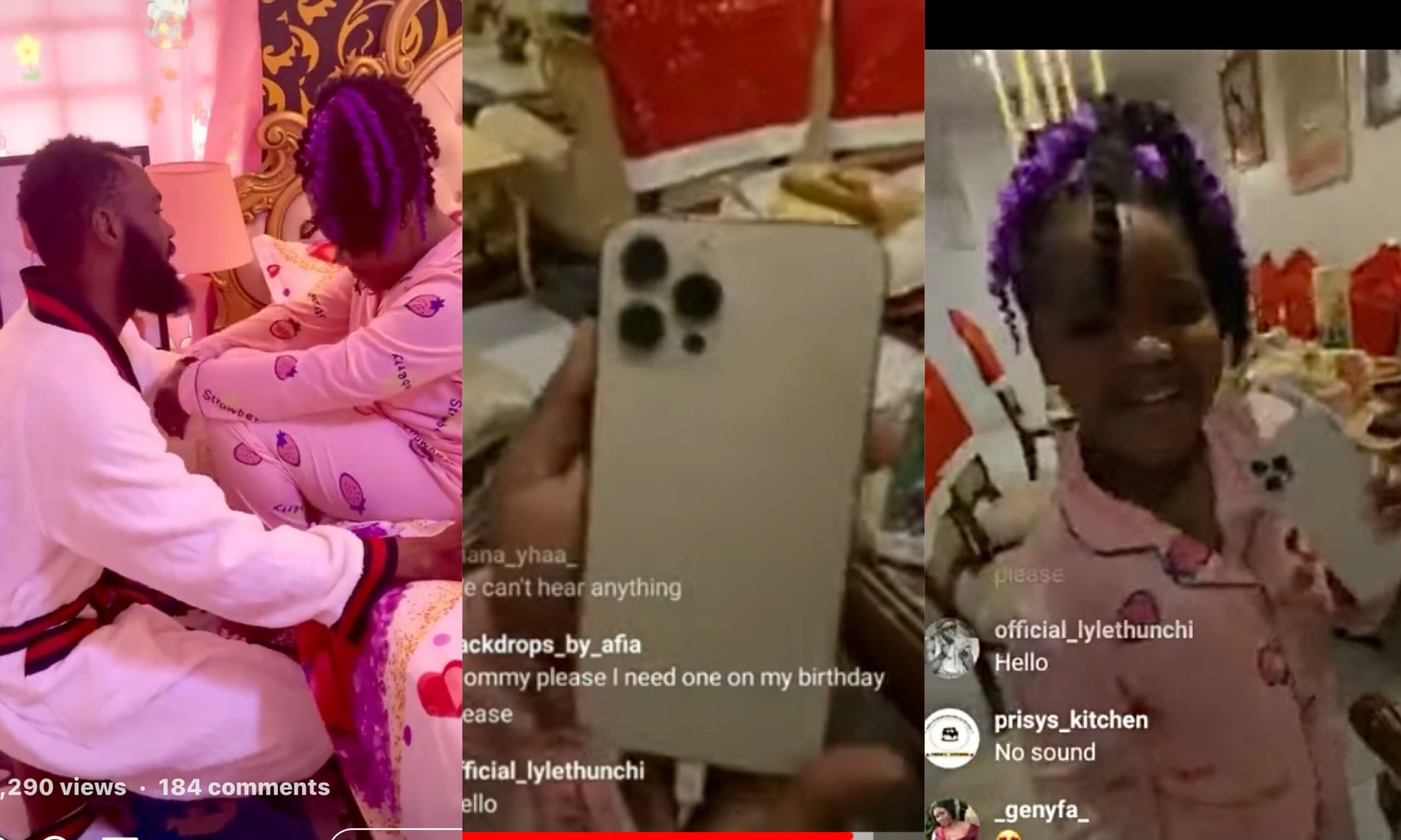 Rev Obofour and wife, gifted their daughter, Lawrensa Antwi an iPhone 12 Pro Max on her 7th birthday [Watch Video]