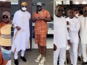 Medikal explores Despite's fleet of cars at Kency's baby christening and one year anniversary [Watch video]