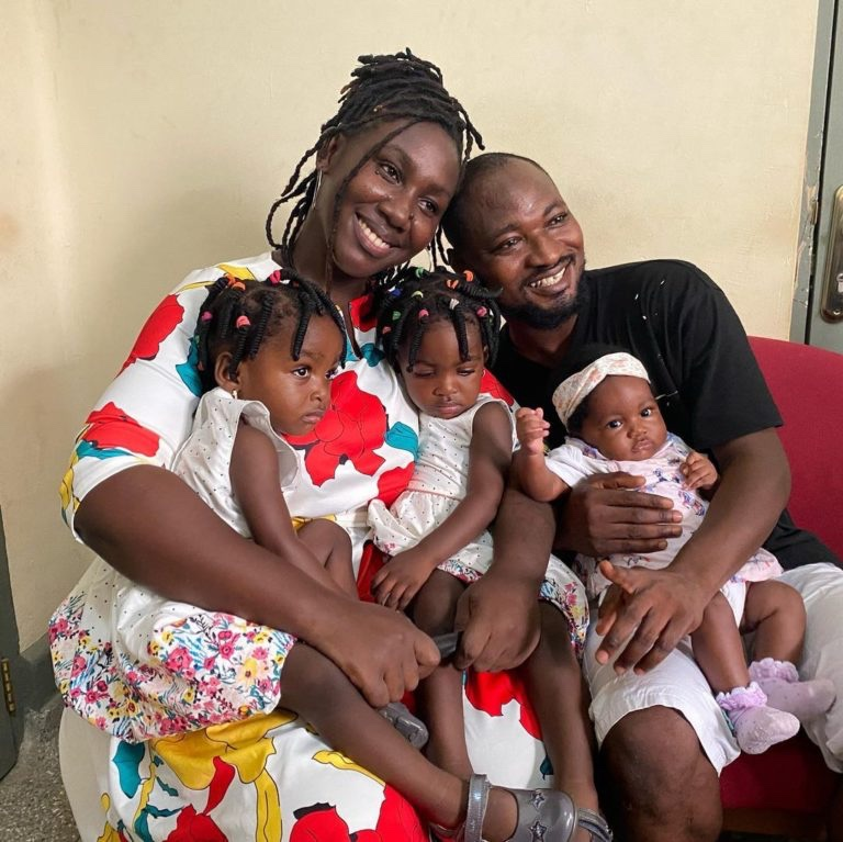 Funny Face reunites with his children and baby mama – see exclusive Photos