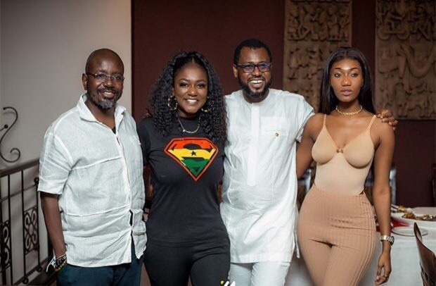 Watch Kennedy Osei, Fadda Dickson, Bola Ray and other rich men arrived at Dentaa Amoateng birthday party in their luxurious cars [Video]
